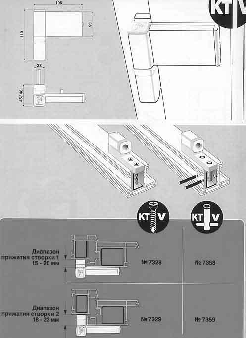 Дверные петли Dr.Hahn KT-V